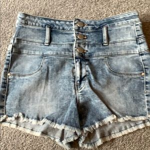 Refuge high waisted denim shorts 2